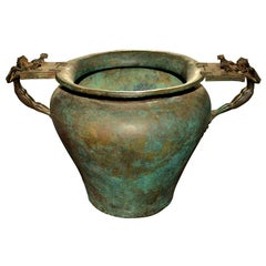 Bronze Vase in the Antique Taste with Great Patina
