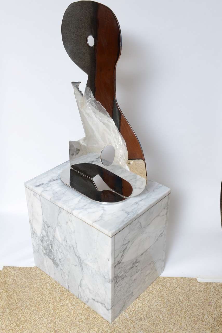 Metal on Marble Sculpture by Jack Schuyler For Sale 1