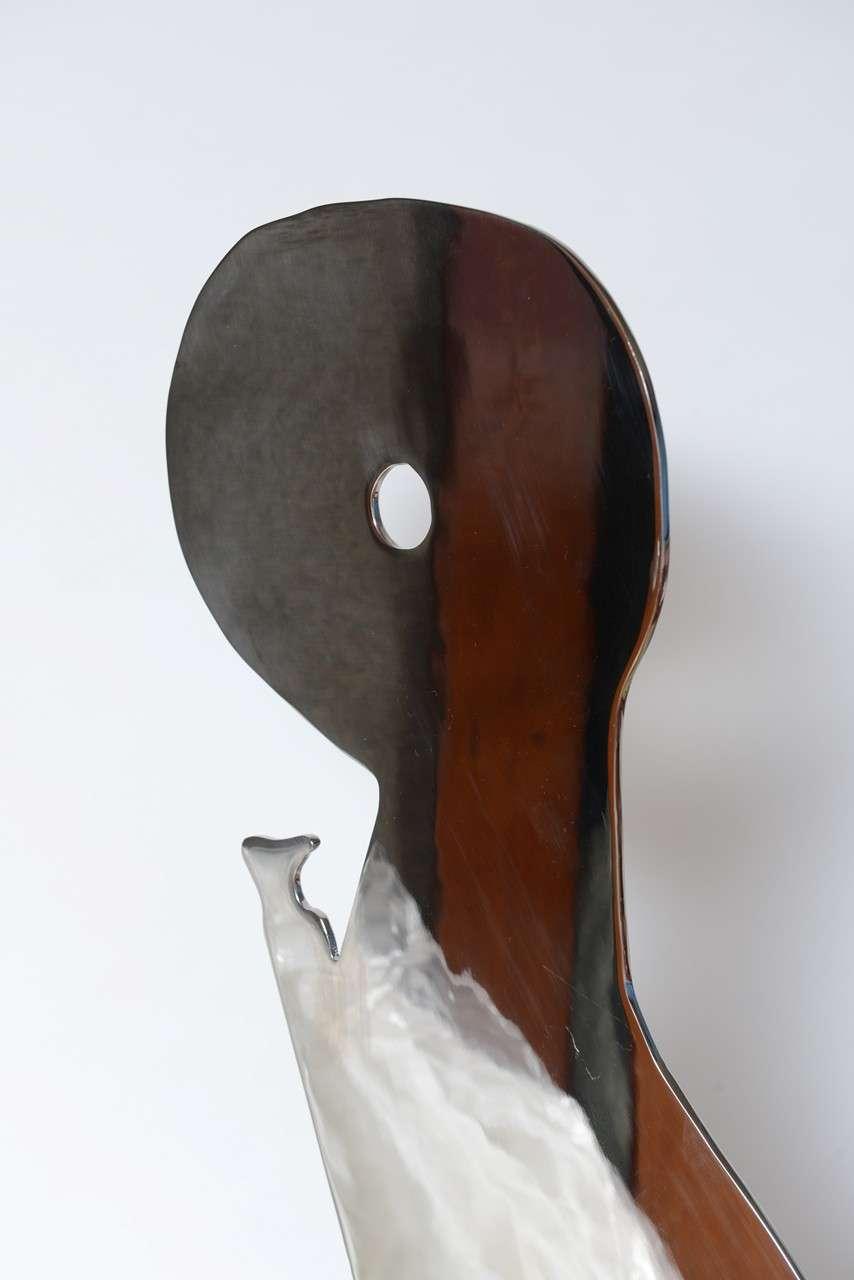 Metal on Marble Sculpture by Jack Schuyler For Sale 2