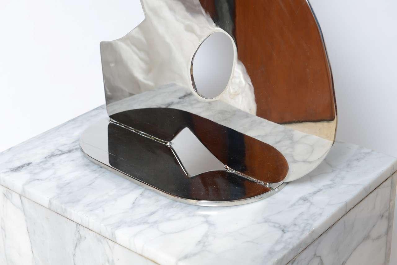 Metal on Marble Sculpture by Jack Schuyler For Sale 3
