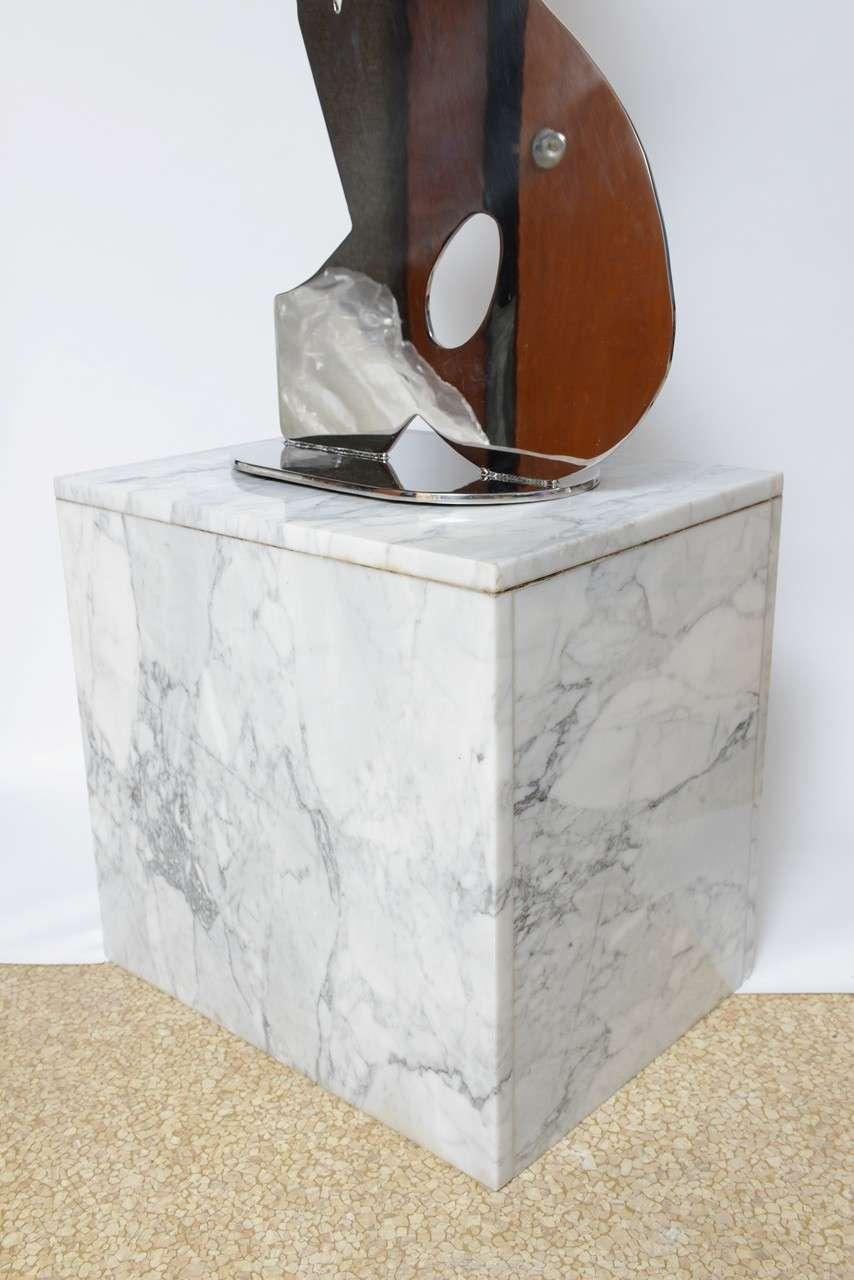 Metal on Marble Sculpture by Jack Schuyler For Sale 4
