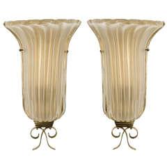 Pair of Murano Sconces