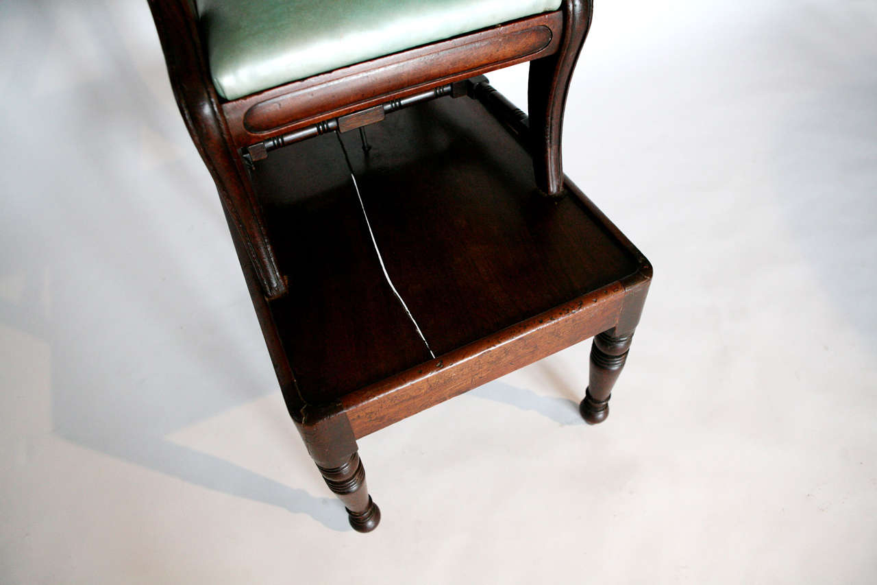 Leather Child's English Regency High Chair For Sale