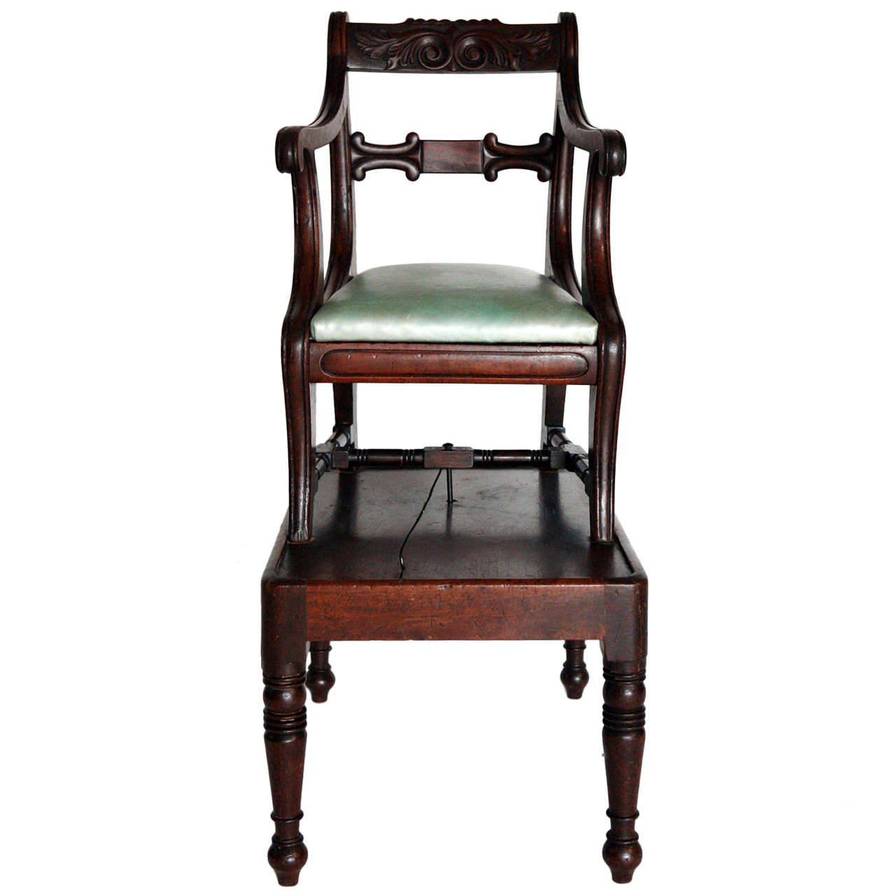 Child's English Regency High Chair - Antique Georgian Mahogany Childs High Chair For Sale At 1stdibs
