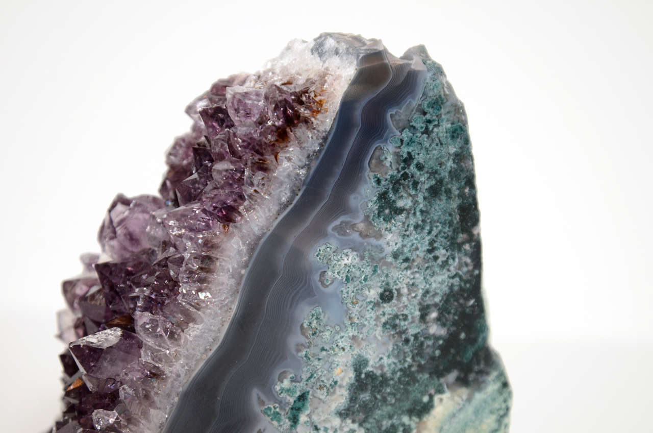 Pair of Rare Amethyst Crystal and Geode Bookends 5