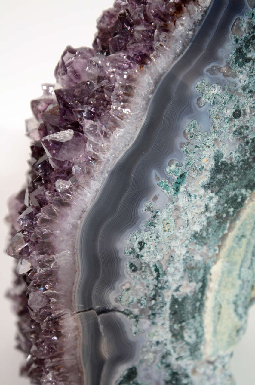 Pair of Rare Amethyst Crystal and Geode Bookends 6