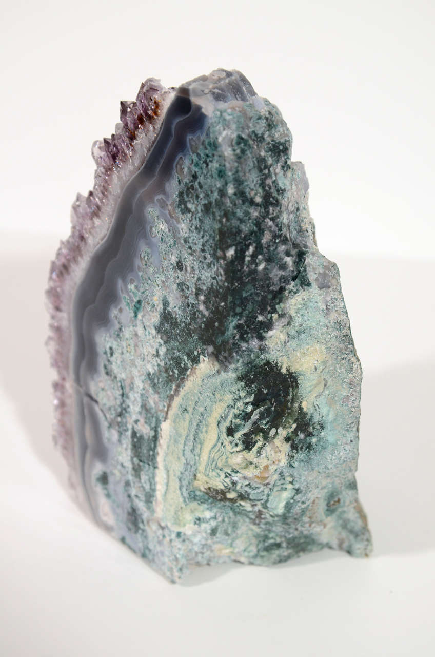 Pair of Rare Amethyst Crystal and Geode Bookends 7