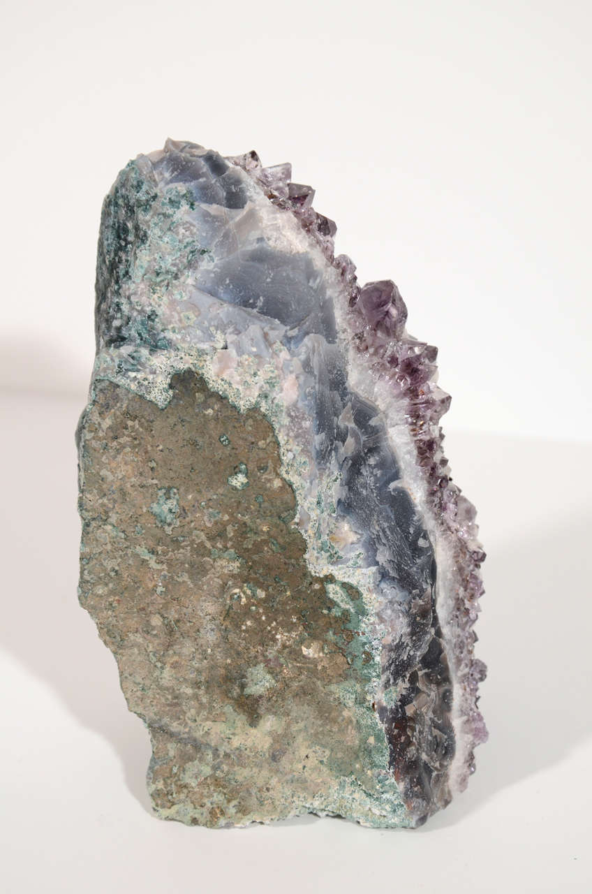 Pair of Rare Amethyst Crystal and Geode Bookends 8