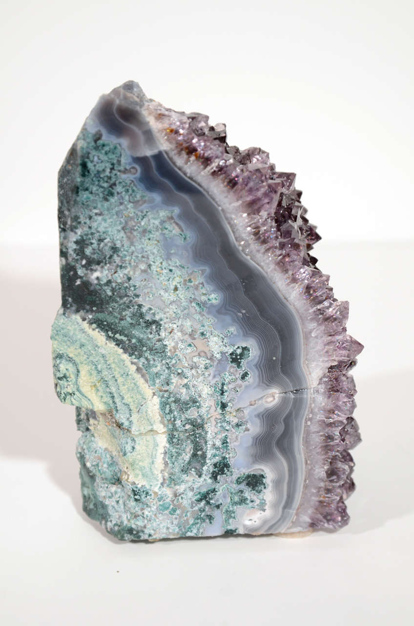Pair of Rare Amethyst Crystal and Geode Bookends 9