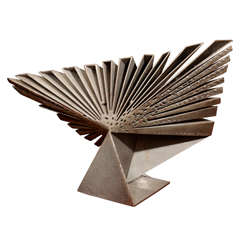 Folded Steel Fan Sculpture By Volkmaar Haase  1965