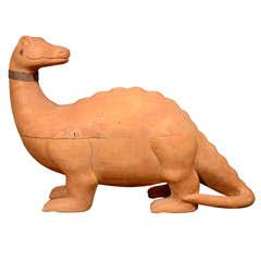Rare And Unusual Arthur Court Wooden Dinosaur Box