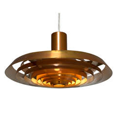 Poul Henningsen Copper 'Plate' Pendant for Louis Poulsen