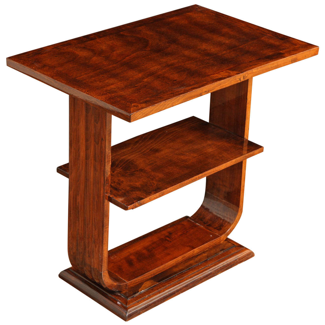 deco side table with shelves at 1stdibs