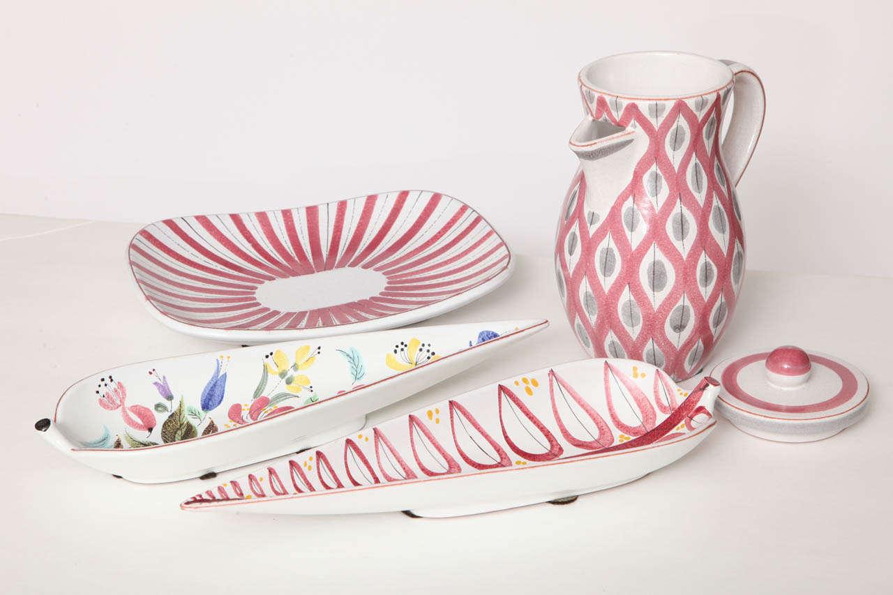 Mid-20th Century Ceramics Bowls by Stig Lindberg, Sweden, circa 1950 For Sale
