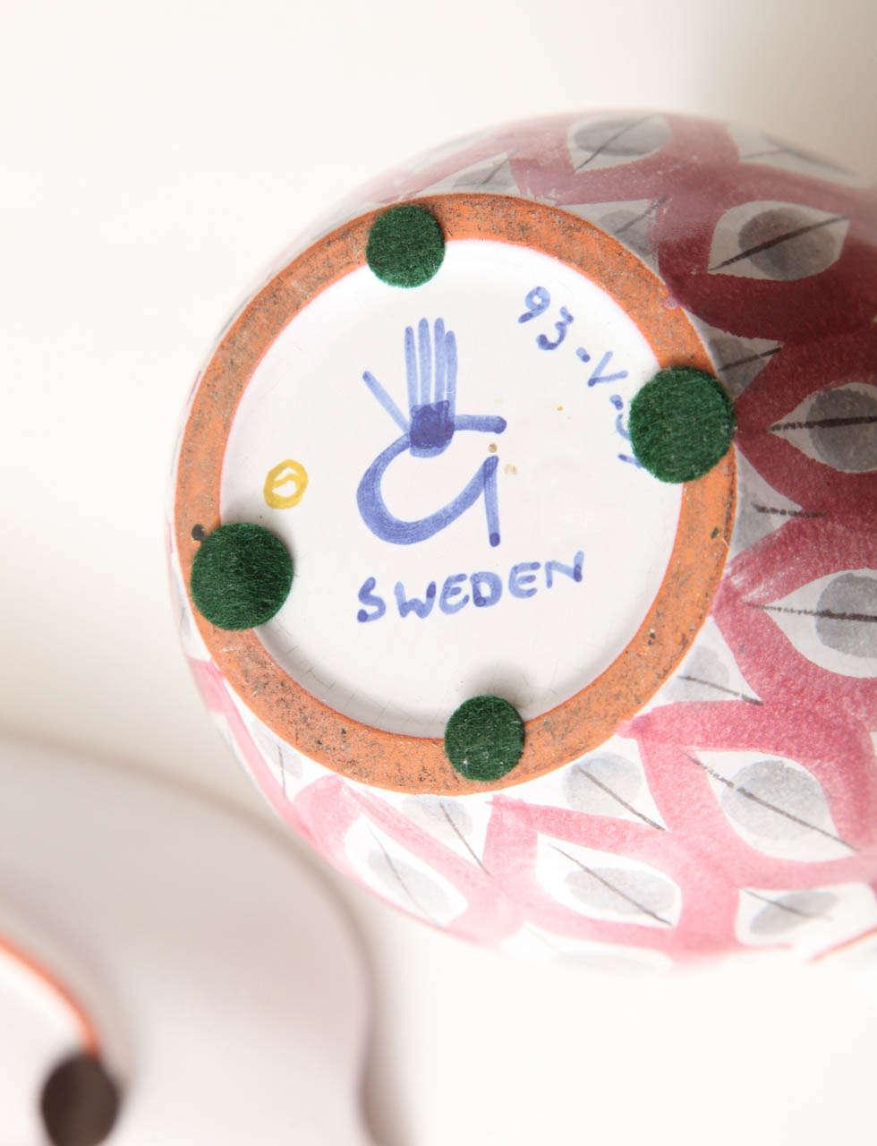 Faience Ceramics Bowls by Stig Lindberg, Sweden, circa 1950 For Sale