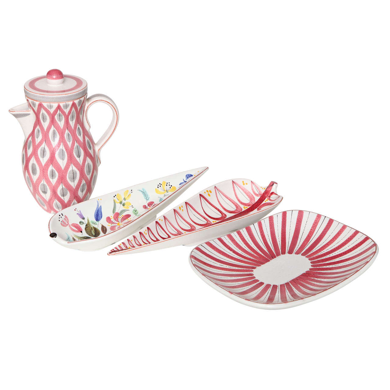 Ceramics Bowls by Stig Lindberg, Sweden, circa 1950 For Sale