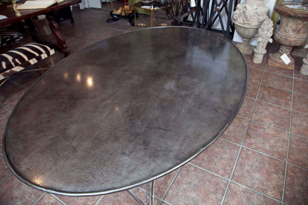 Folding French Metal Tables Outdoor/Indoor For Sale 1