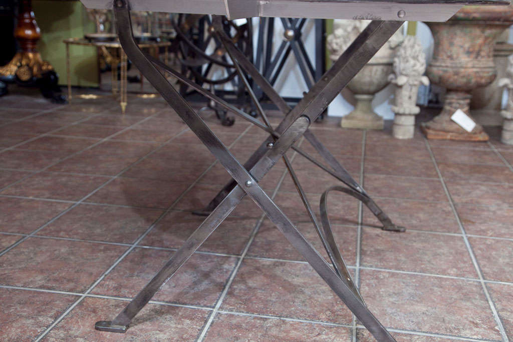 Folding French Metal Tables Outdoor/Indoor For Sale 3