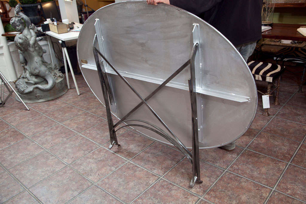 Folding French Metal Tables Outdoor/Indoor For Sale 4
