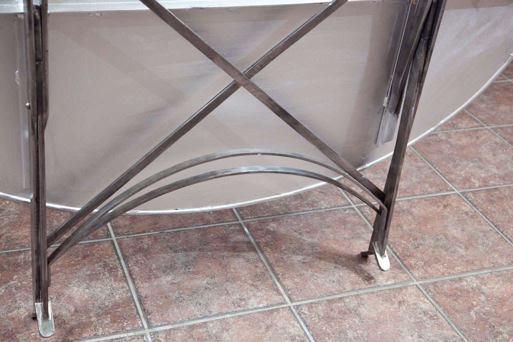Folding French Metal Tables Outdoor/Indoor For Sale 6