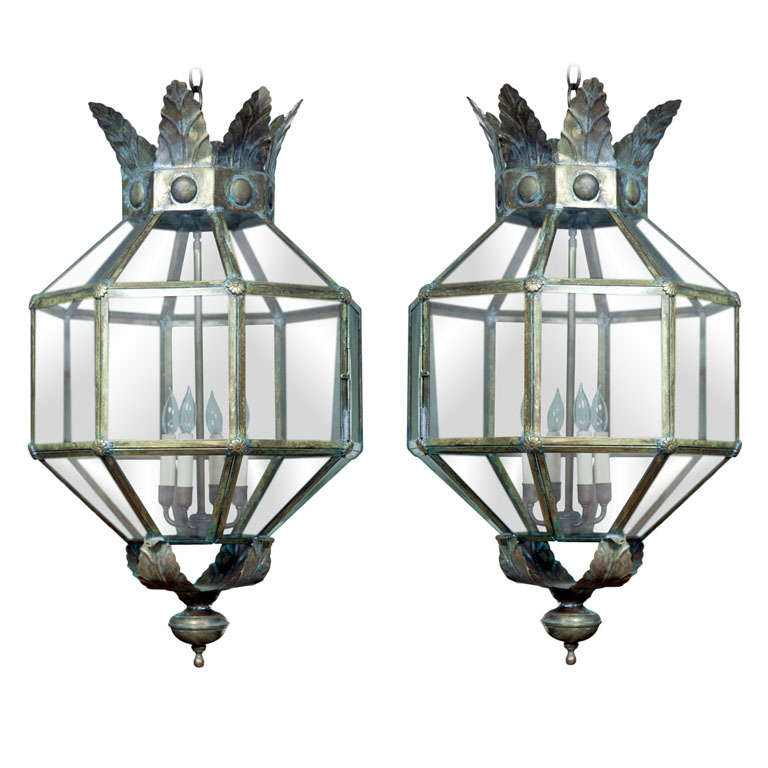 Pair of Italian lanterns, 20th century