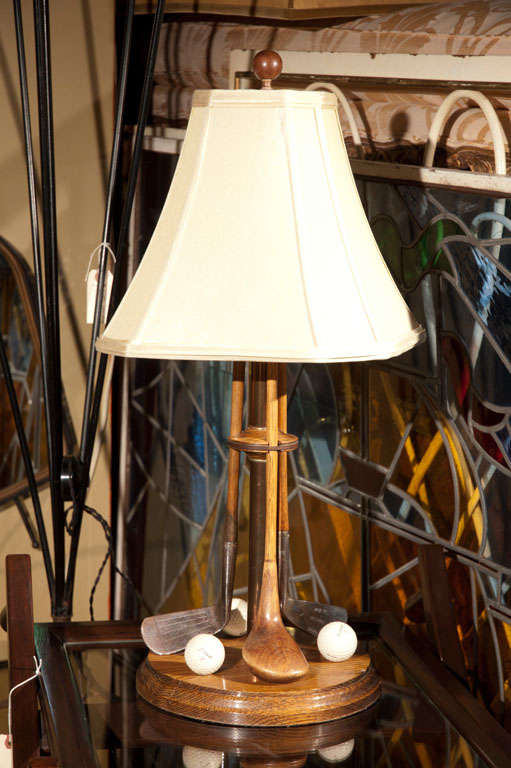 1960 S Table Lamp With Golf Clubs For Sale At 1stdibs