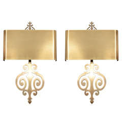 Charles scroll sconces
