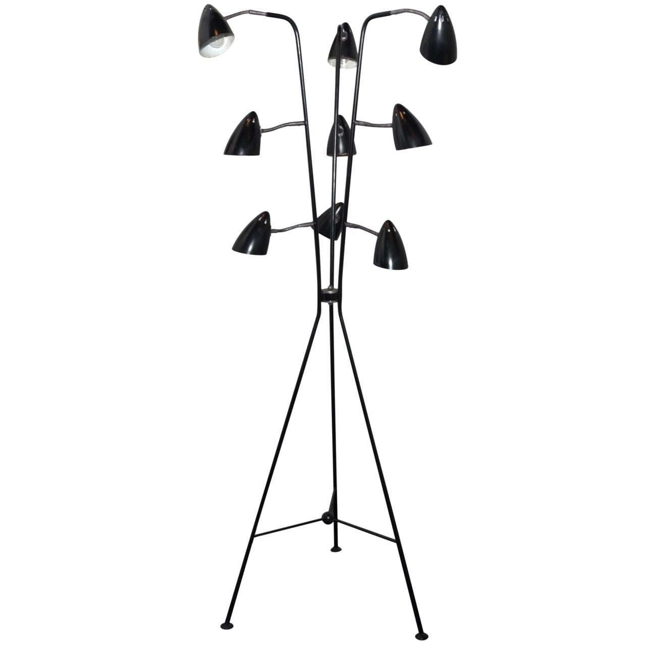 1950s italian tripod floor lamp at 1stdibs