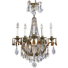 French Six Light Electrified Candle Fixture