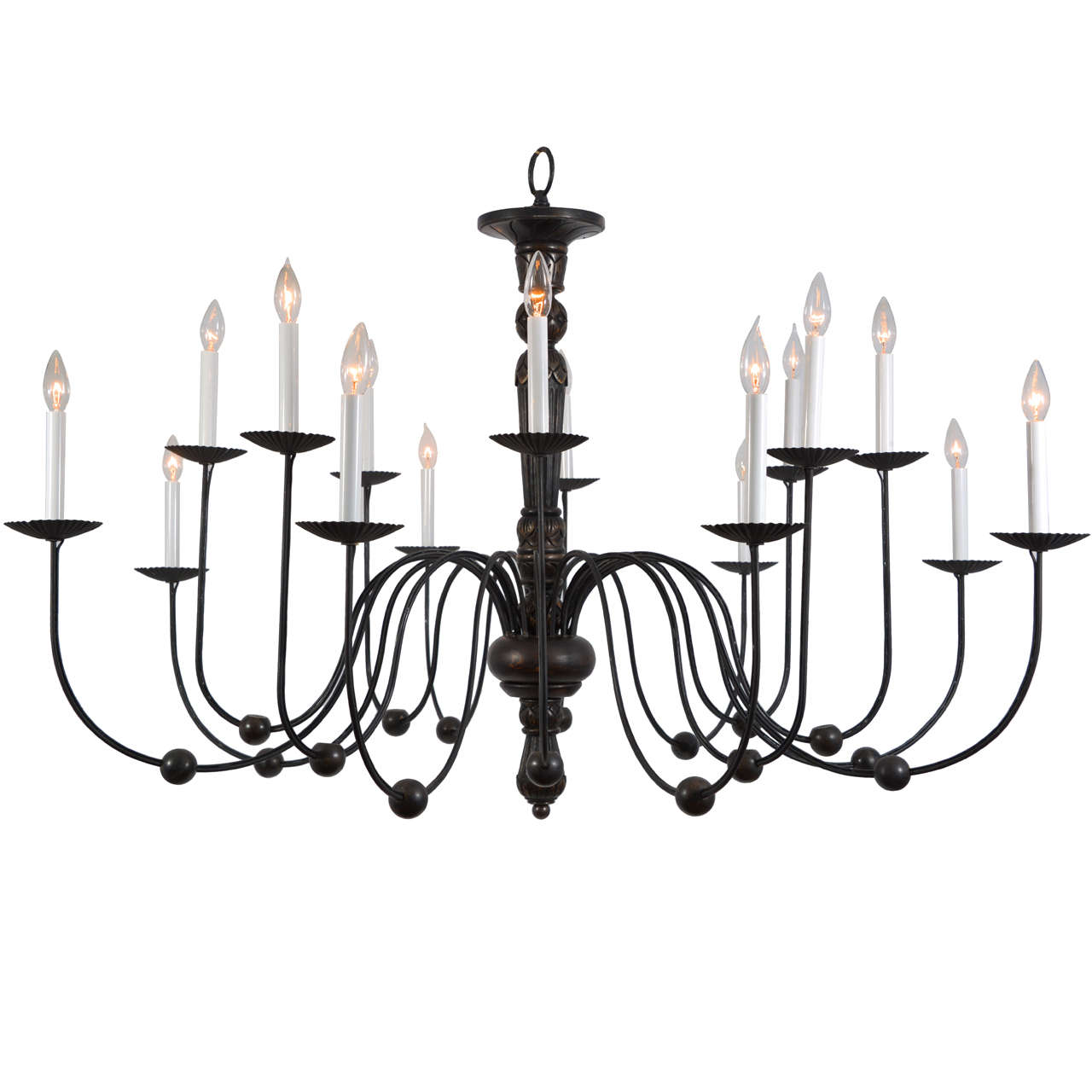 Candle Light Fixture: Italian, 16 Light Candle Fixture, Electrified. At 1stdibs