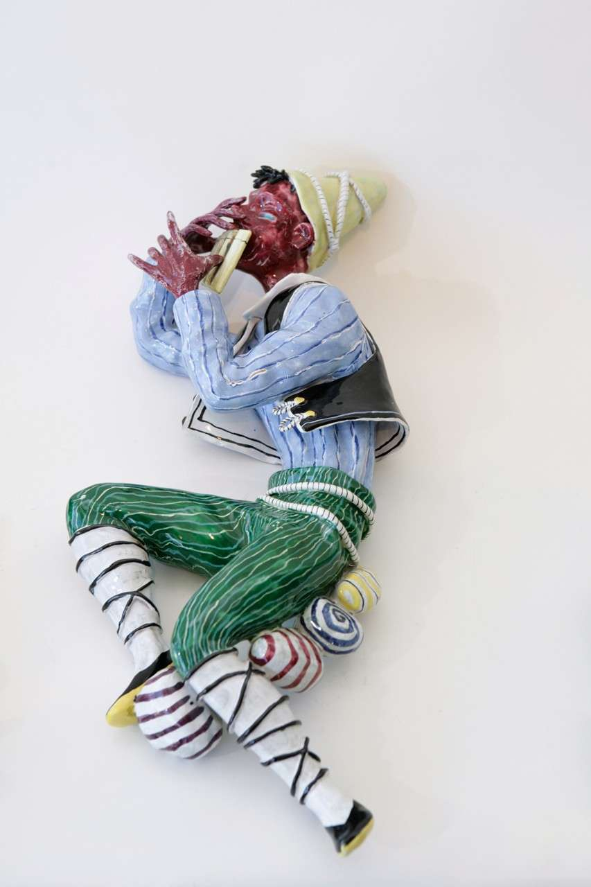 Trio of Ceramic Minstrels by Otello Rosa for San Polo Venezia In Excellent Condition For Sale In Los Angeles, CA