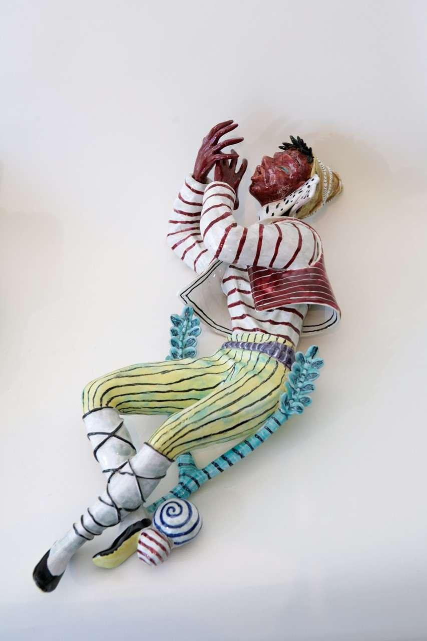Mid-20th Century Trio of Ceramic Minstrels by Otello Rosa for San Polo Venezia For Sale