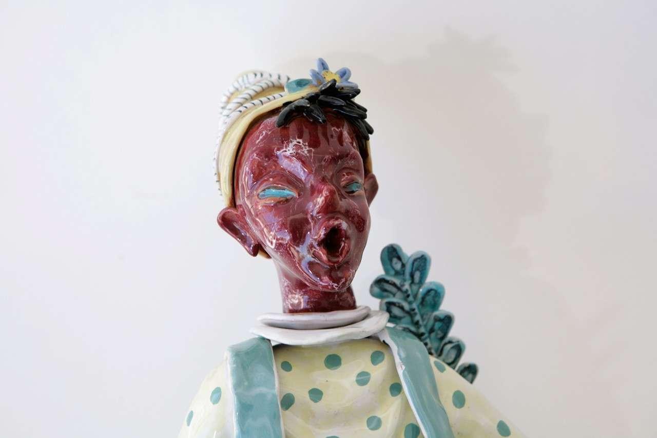 Trio of Ceramic Minstrels by Otello Rosa for San Polo Venezia For Sale 1