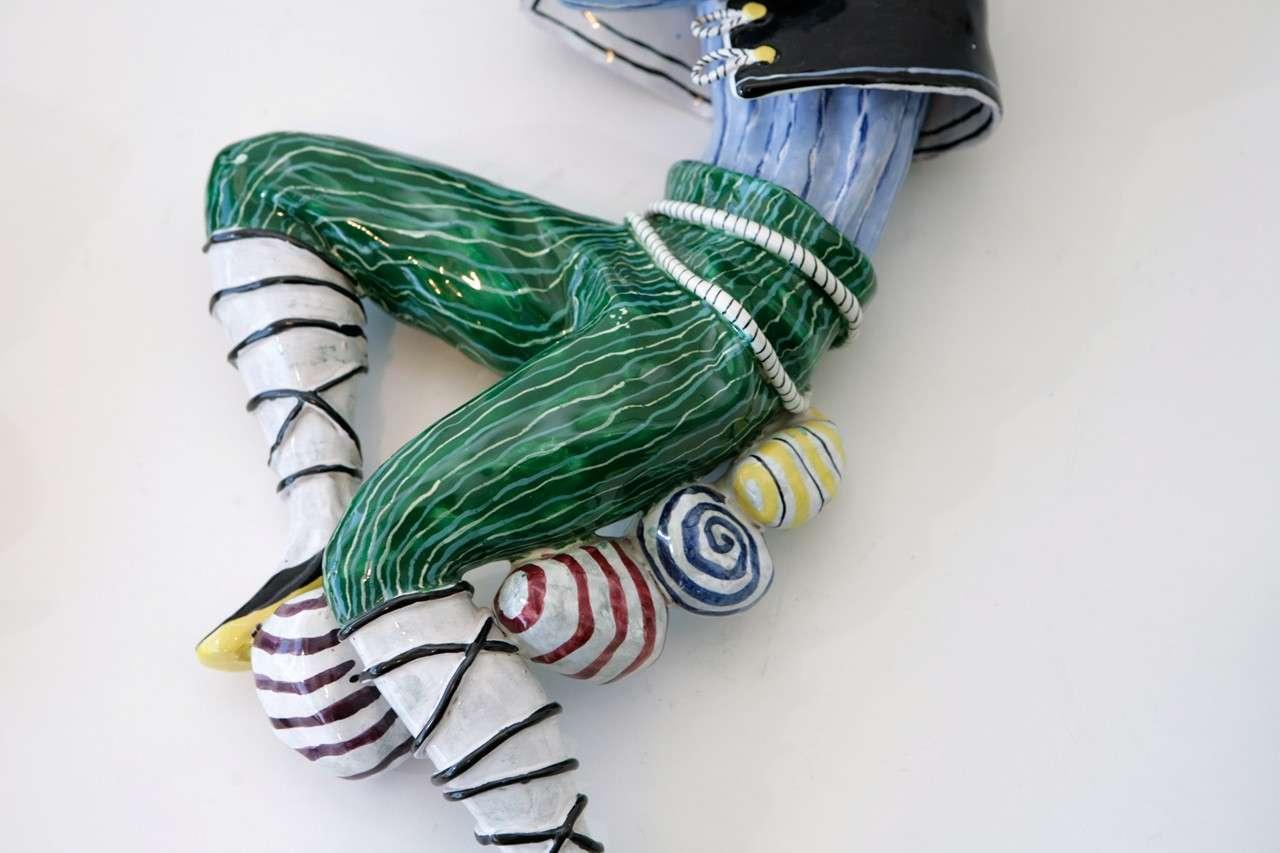 Trio of Ceramic Minstrels by Otello Rosa for San Polo Venezia For Sale 4