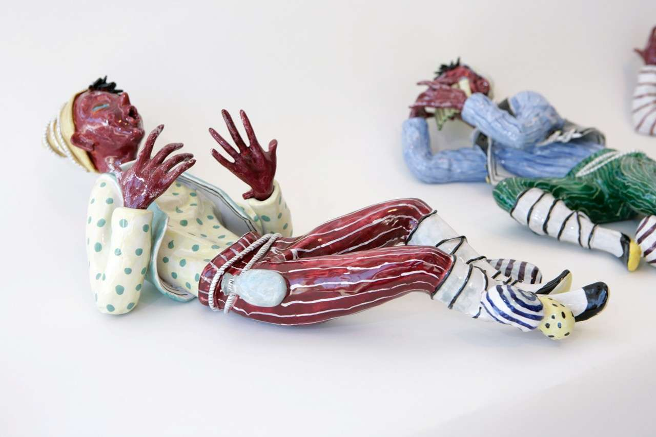 Trio of Ceramic Minstrels by Otello Rosa for San Polo Venezia For Sale 5