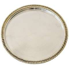 Classic Nickel Plate Tray with Chain Detail by Hermes