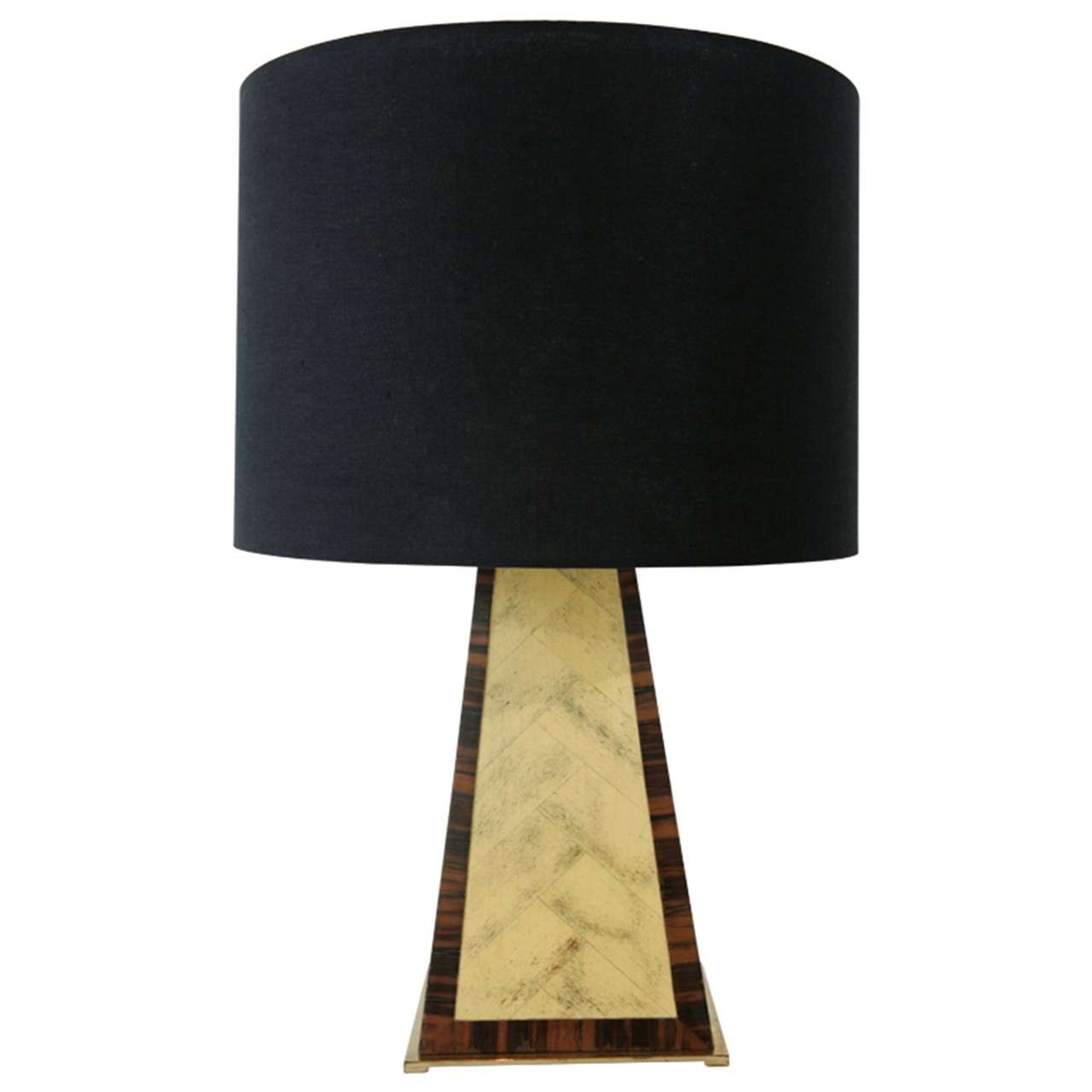 Faux Painted Table Lamp In The Manner Of Karl Springer