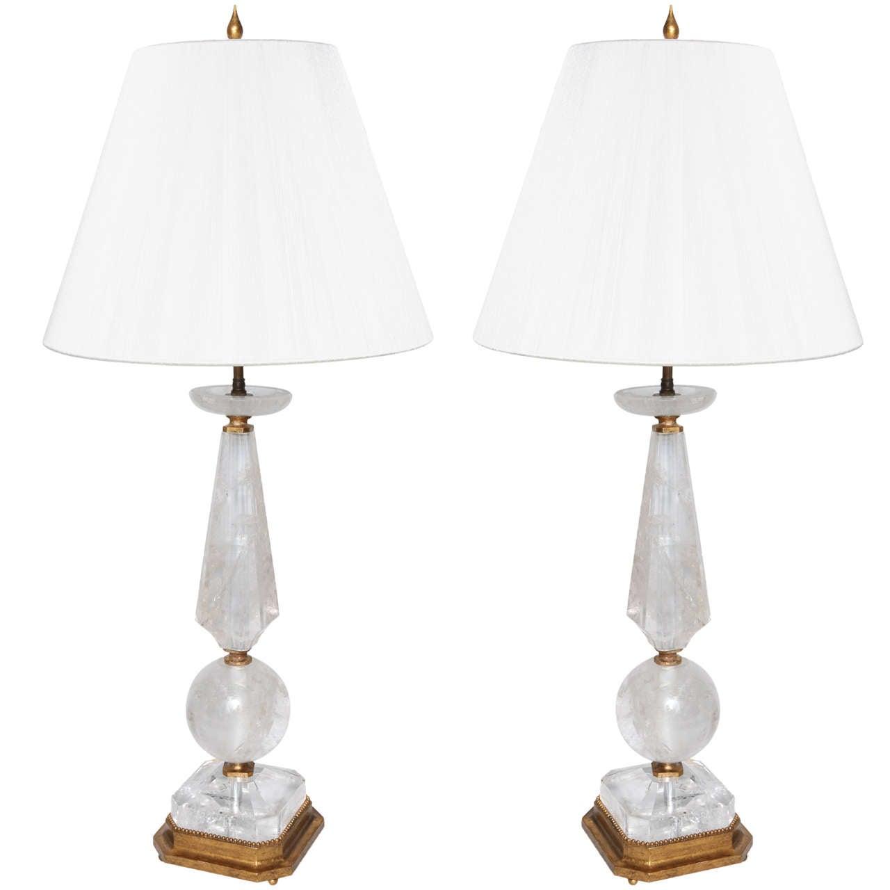 large rock crystal table lamps at 1stdibs. Black Bedroom Furniture Sets. Home Design Ideas