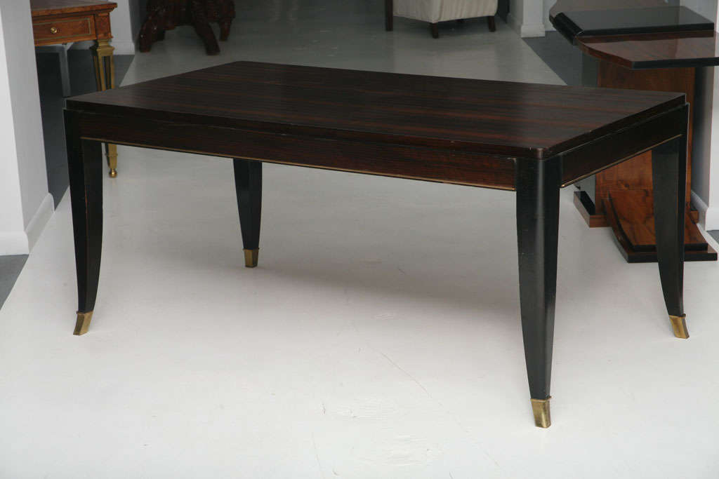 French art deco macassar ebony dining table m rincke at for B m dining room table