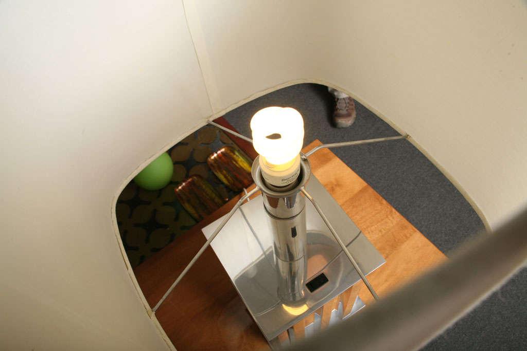 Mid-20th Century Brazilian Modernist Dominici Polished Aluminum Table Lamp For Sale