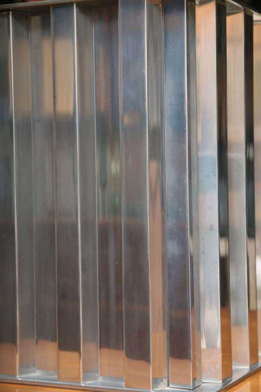 Brazilian Modernist Dominici Polished Aluminum Table Lamp For Sale 1
