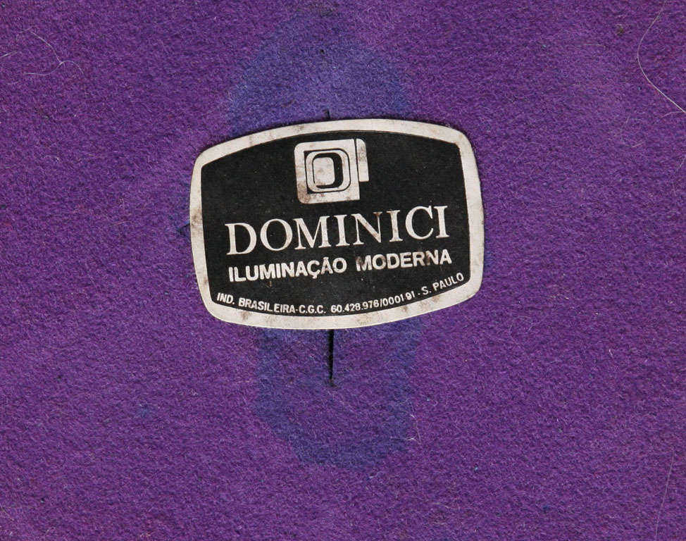 Brazilian Modernist Dominici Polished Aluminum Table Lamp For Sale 4