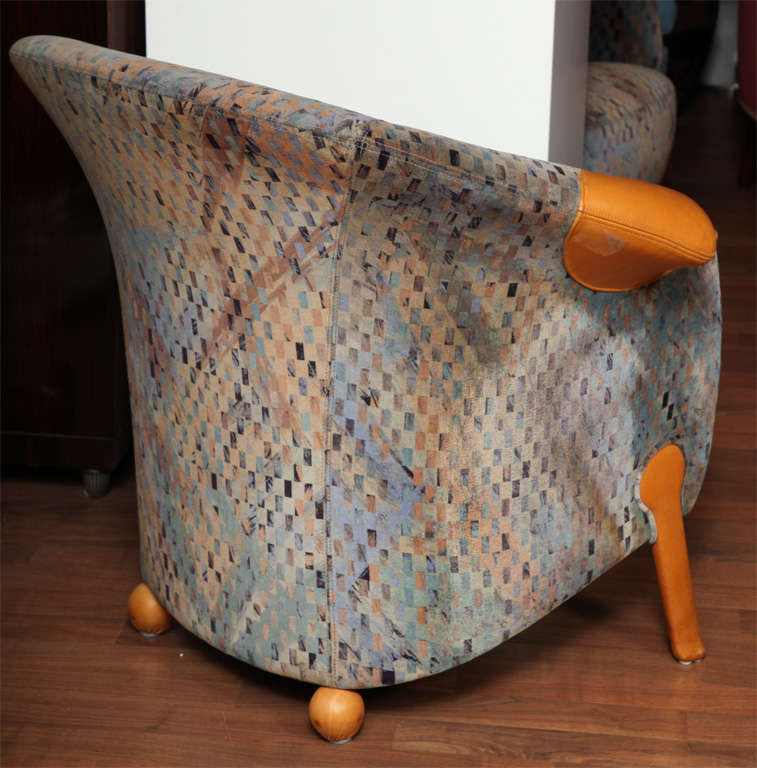 Late 20th Century Pair of Postmodern Armchairs by Franz Wittman For Sale