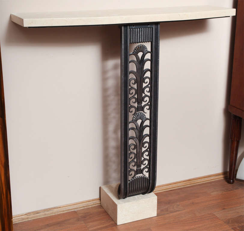 Art Deco Style Console in the manner of Brandt For Sale 2