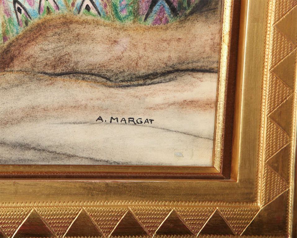 French Art Deco Painting by André Margat For Sale
