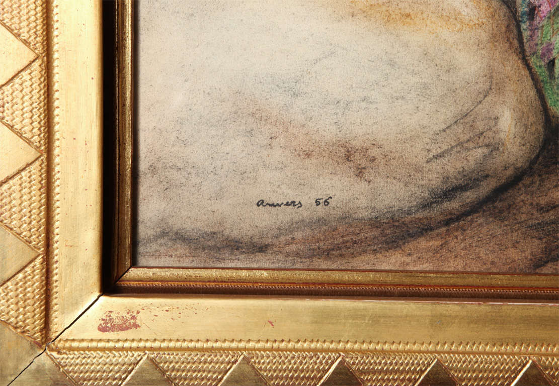 Art Deco Painting by André Margat In Excellent Condition For Sale In Bridgewater, CT