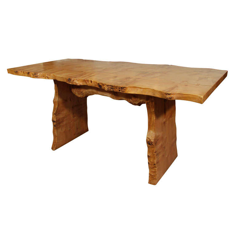 Rustic Quot Live Edge Quot Curly Maple Nakashima Style Dining