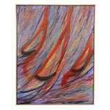 "Abstract ""Sailboats"" Acrylic on Canvas Painting; Signed Brennan"