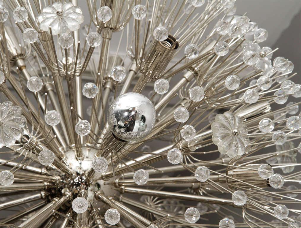 Mid-20th Century Large 1960s Austrian Snowflake Sputnik Chandelier For Sale