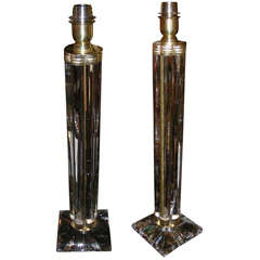 Two 1970-1980 Italian Glass Lamps
